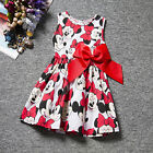 Baby Kids Girls Disney Minnie Mouse Party Mini Dress Sleeveless Summer Clothing