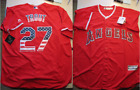Majestic Mike Trout Los Angeles Angels Stars and Stripes Cool Base Jersey XL US