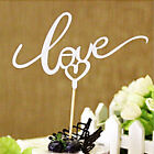 LOVE Cake Topper Sparkle Glitter Gold Wedding Decorating Engagements Party RS