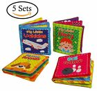 Baby's First Non-Toxic Soft Cloth Book Baby Cloth Book Set Kids Early Learning E