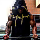 US Mens Muscle Hoodie Tank Top Gym Workout Sleeveless Vest T-shirt Bodybuilding