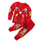 Kids Toddler Baby Boys Girls Pajamas Set Sleepwear Nightwear Clothes Outfits UK