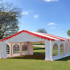 20'x20' Budget PVC Party Tent Canopy - Red Tent, Storage Bag Sold Separately