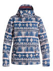 Roxy Jetty Akiya Blue Print Women's Snowboard Ski Jacket NEW