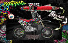 "HONDA 1993-2012 CR80 CR85 GRAPHICS WRAP ""RUCKUS"" DECAL KIT WITH RIM GRAPHICS"