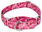 Country Brook Petz® Pink Bone Camo Reflective Martingale Dog Collar