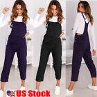 Women Ladies Loose Denim Jeans Pants Overalls Straps Jumpsui