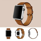 Replacement Genuine Leather Watch Strap Band for Apple Watch Series 3/2/1 US KY image