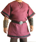Medieval Viking Pink Color Tunic For Armor Reenactment Short Sleeves