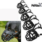 Strong Dog Muzzle Adjustable Basket No Bite Mouth Mask Bark Cage flexible Straps