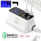 8 Port Multiple USB Quick Charger Power Adapter Led Display For iPhone Android