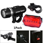5 LED Bicycle Bike Light Front Headlight & Rear Safety Flashlight Set Waterproof