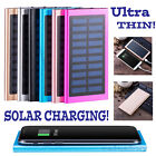 50000mAh Slim 2 USB Compact Battery Charger Solar Power Bank For Phone