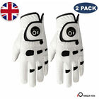 Men Golf Gloves Left Hand Right Leather Value 2 Pack with Ball Marker Gloves UK