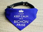 Im A Bichon Frise Bandana  collar neck tie red blue  dog puppy