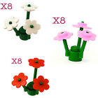 Lego 12 Flowers and Plant Stem Assemblies Red White or Dark Pink or a Combo NEW