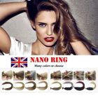 "14"" Staight Remy Nano Ring Tip Hair 100% Human Hair Extensions Any Color In UK"