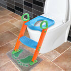 Kid Training Potty Trainer Toilet Seat Chair Toddler w/Ladder Step Up Stool image