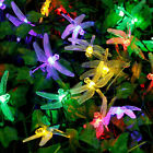 solar powered patio lights string - Outdoor Solar Powered Dragonfly String Light Patio Garden 20 LED Lamp Lights New