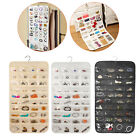 80 Pocket Double-Sided Hanging Jewelry Accessories Organizer Holder Storage