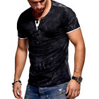 Stylish Men&#039;s Tee Shirt Slim Fit V-Neck Short Sleeve Muscle Casual Tops T Shirts <br/> ❤️US Seller❤️60 Days Free Return❤️EXTRA 10% OFF 2+ ITEM