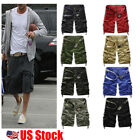 Fashion Mens Cargo Shorts Military Army Combat Half Pant Work Casual Trousers US