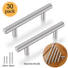 30pack Brushed Nickel Cabinet Pulls Stainless Steel Drawer T Bar Handles 2