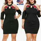 Sexy Women Casaul Dress Plus Size Party Cocktail Bodycon Col