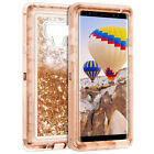 For Samsung Galaxy Note 9 S8+ 360° Flowing liquid Bling Glitter Phone Case Cover