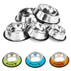 Non Slip Stainless Steel Cat Puppy Dog Pet Bowl Dish Water Food Feeding Bowl USA