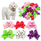 50/100pcs/lot Diamond Pet Dog Puppy Hair Bow Grooming Accessories Cute Dot Print