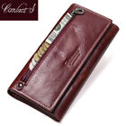 Contact's Genuine Leather Wallets Long Purse Clutches Xmas Gifts For Her Women image