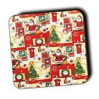 Christmas Coasters XMAS - Festive Gifts - Selection - Wood Coasters - 4 FOR 3