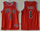 Men's Chicago Bulls Basketball Jersey NO.1 Shirt Derrick Rose Swingman red on eBay