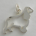 SPANIEL Dog Outline Charm Pendant Necklace Jewelry .925 Sterling Silver USA Made