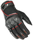 Joe Rocket Black/Red Mens Super Moto Leather/Textile Motorcycle Gloves