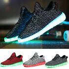 Mens Women LED Athletic Running Shoes Light Weight Walking Training Gym Sneakers