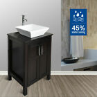 28'' Bathroom Vanity Floating Wood Cabinet Wall Mount Vessel Sink Faucet Combo