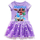 Dress For Girls Kids Moana Cosplay Costume Cotton Short Sleeve Sleeveless Xmas