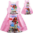 Dress For Girls Kids Moana Cosplay Costume Sleeveless Jumper Princess Halloween