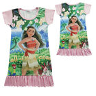 Dress For Girls Kids Moana Cosplay Costume Short Sleeve Princess Xmas Halloween