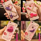 Girls Rhinestones Glitter Dynamic Quicksand back Case Cover For ZTE Phones