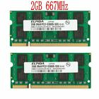 4GB 2x 2GB / 1GB PC2-5300 DDR2 667MHZ SO-DIMM Laptop Intel Memory For Elpida Lot