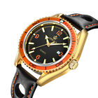 Men's Luxury Wrist Watch Rotating Bezel Case Quartz Date Leather Band WristwatchWristwatches - 31387