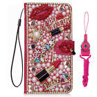 Bling Diamond PU leather Filp Wallet Handmade Phone Case Cover For BLU Oukitel