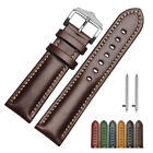 18 20 22mm Quick Release Leather watch Band Replace Wrist Strap Bracelet + Pins image