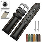 18 20 22mm Quick Release Leather Watch Band Strap Bracelet For Fossil Q Watch