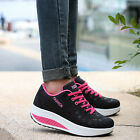 Woman Lace Up Sports Sneakers Casual High Platform Shoes Lady Running Trainers