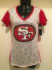 San Francisco 49ers Ladies Cameo Burnout T-shirt -NFL Licensed by Concepts Sport