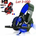 Lot Gaming Headphone USB 3.5mm Headset Earphone Microphone for PC Computer Gamer